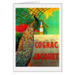 Cognac Jacquet Vintage Advertising Poster Greeting Card