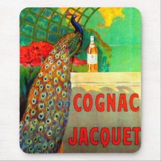 Cognac Jacquet Vintage Advertising Poster Mouse Pad