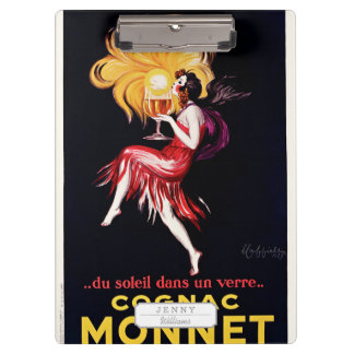 Cognac Monnet by Cappiello Clipboard