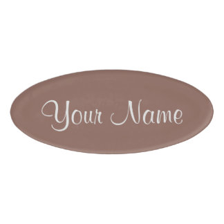 Cognac Name Tag