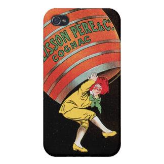 Cognac Pellisson Vintage Wine Drink Ad Art iPhone 4/4S Cases
