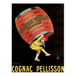 Cognac Pellisson Vintage Wine Drink Ad Art Post Cards