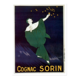 Cognac Sorin Vintage Wine Drink Ad Art Postcard