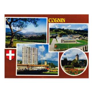 Cognin, Francia, Haute Saboya, multiview Postales