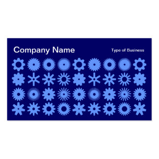 Cogs - Baby Blue on Deep Navy Business Card
