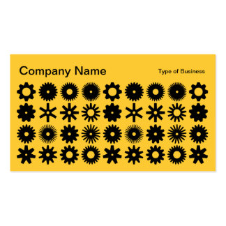Cogs - Black and Amber Business Card