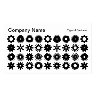 Cogs - Black and White Business Card