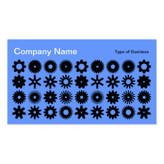 Cogs - Black on Baby Blue Business Card