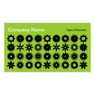 Cogs - Black on Martian Green Business Card