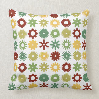 Cogs - Colors 03 Throw Pillow
