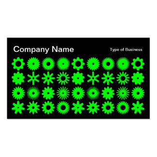 Cogs - Green on Black Business Card