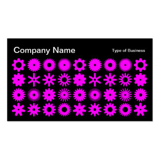 Cogs - Magenta on Black Business Card