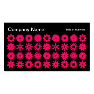 Cogs - Neon Red on Black Business Card