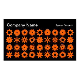 Cogs - Orange on Black Business Card