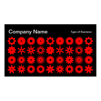 Cogs - Red on Black Business Card