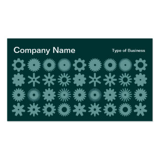 Cogs - Shades of Green 02 Business Card