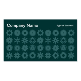 Cogs - Shades of Green 03 Business Card