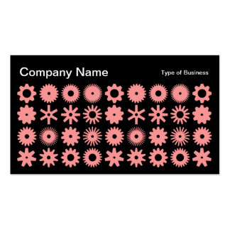 Cogs - Soft Pink on Black Business Card