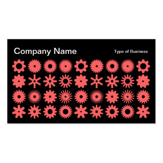 Cogs - Tropical Pink on Black Business Card