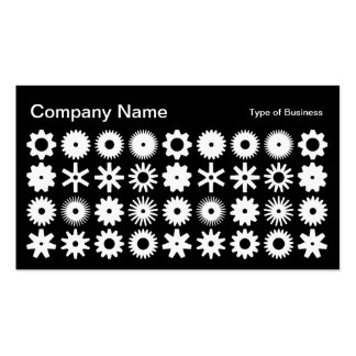 Cogs - White on Black Business Card
