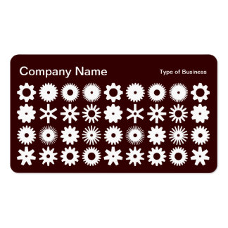 Cogs - White on Dark Brown Business Card
