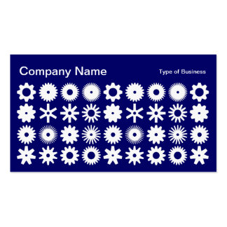 Cogs - White on Deep Navy Business Card