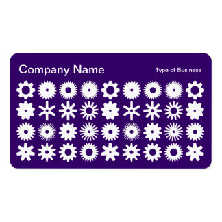 Cogs - White on Deep Purple Business Card