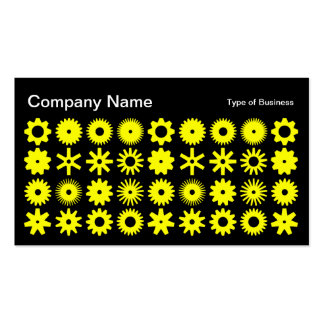 Cogs - Yellow on Black Business Card