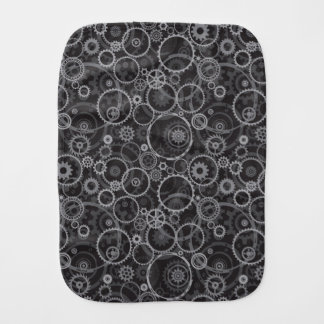 Cogwheels pattern burp cloth