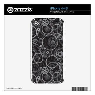 Cogwheels pattern iPhone 4 decals