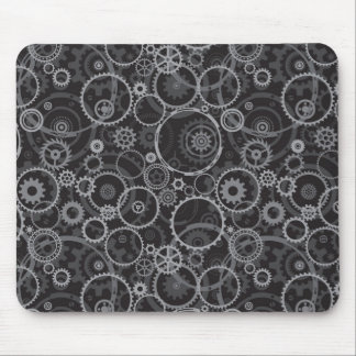Cogwheels pattern mouse pad