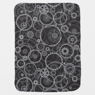 Cogwheels pattern receiving blanket