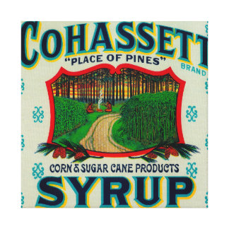 Cohassett Syrup LabelCairo, GA Canvas Print