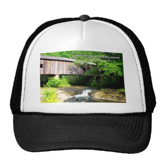 COHEELEE CREEK COVERED BRIDGE - HILTON, GA TRUCKER HAT