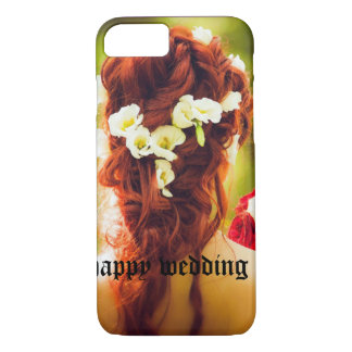cohesion, wedding, flowers, hair, red hair, red ro iPhone 8/7 case