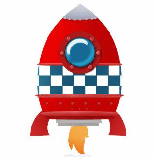 Cohete de espacio - escultura de la foto fotoescultura vertical