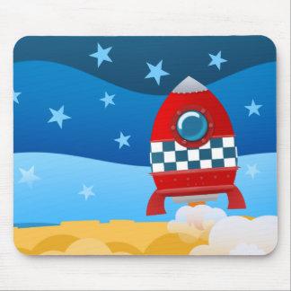 Cohete de espacio - mousepad
