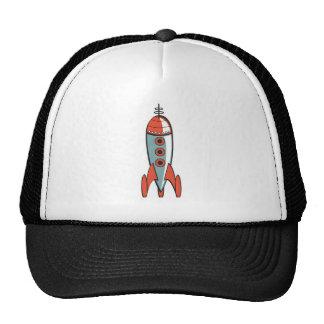 cohete de espacio retro gorro de camionero