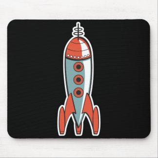 cohete de espacio retro tapetes de ratón