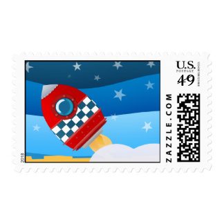 Cohete de espacio - sellos de los E.E.U.U.