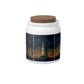 Cohete de Saturn V Platos Para Caramelos