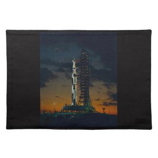 Cohete de Saturn V Manteles Individuales