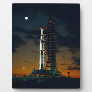Cohete de Saturn V Placas De Plastico