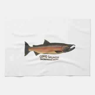 Coho - salmones de plata (que frezan fase) toalla de cocina
