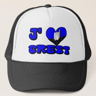 Coil Crest blue Trucker Hat