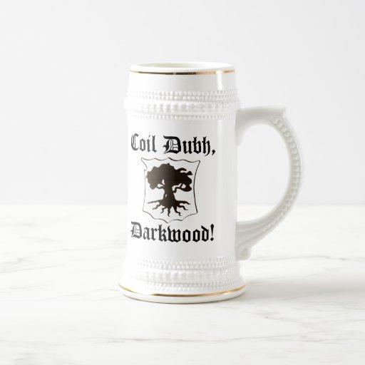 """Coil Dubh, Darkwood!"" Stein with Oak - recentered Coffee Mug"