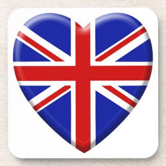 coil flag the United Kingdom England Beverage Coaster