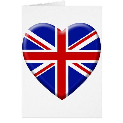coil flag the United Kingdom England Greeting Card