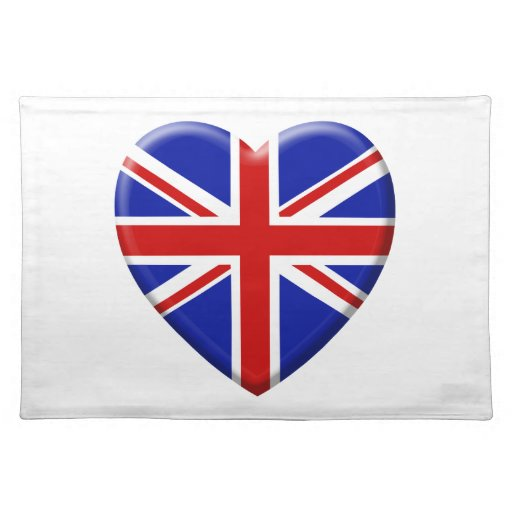 coil flag the United Kingdom England Place Mats