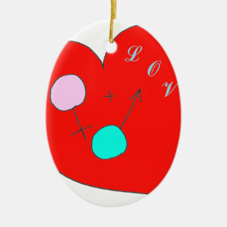 COIL H AND F 1.png Ceramic Ornament